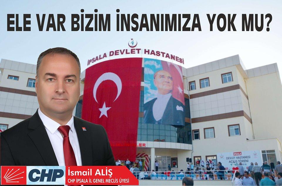 "CHP İl Genel Meclis Üyesi Aliş; "" Ele Var Bizim İnsanımıza Yok Mu? """