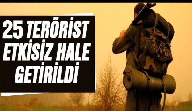 25 Terörist Yakalandı