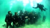 İbrice limanında profesyonel dalgıçlar, su altında özçekim yaptı.