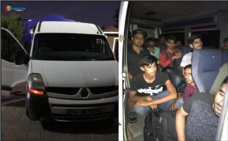 Yasa dışı yollardan Yunanistan'a çıkmak isteyen 18 göçmen yakalandı