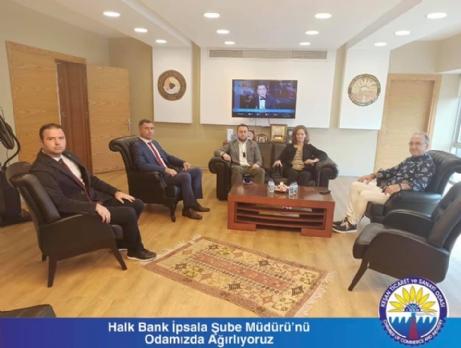 Halkbank Müdürü KTSO'yu Ziyaret Etti.
