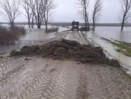 Aşırı yağışlar nedeniyle İbriktepe'de baraj yolu kapandı