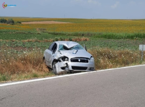 Kontrolden çıkan otomobil tarlaya uçtu: 1 ölü