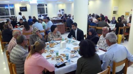 Şehit ve Gazi Ailelerine İftar Yemeği Verildi.