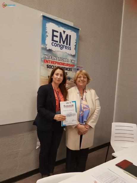 Öğretim Görevlisi ''Uluslararası Girişimcilik ve Sosyal Bilimler Kongresi'ne katıldı
