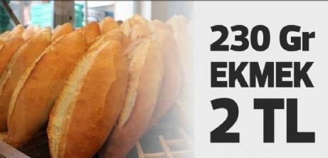 230 Gr Ekmek 2 TL oldu